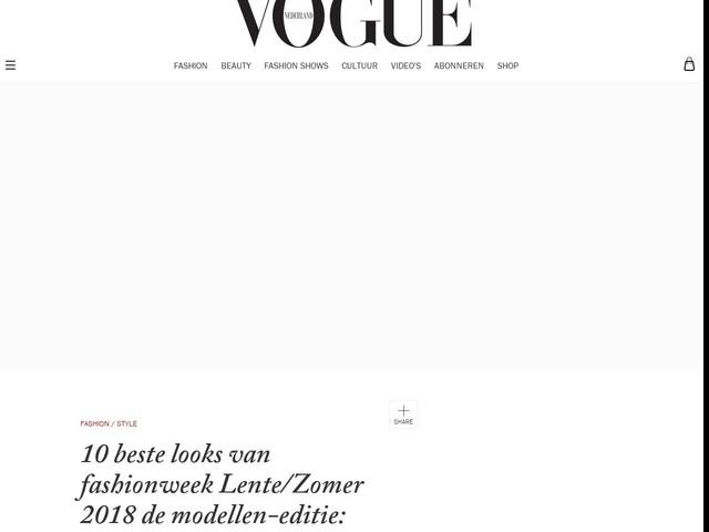 10 beste looks van fashionweek Lente/Zomer 2018 de modellen-editie: week 25 september 2017