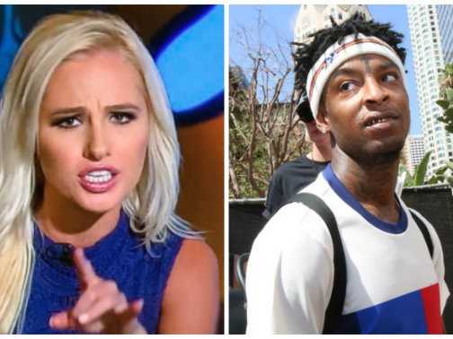 Sunken In Love: Tomi Lahren Gentrified 21 Savage & Now Musty-Crusties Want To Smash Her Sinister KKKakes