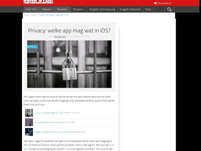 Privacy: welke app mag wat in iOS?