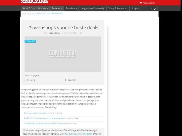 25 webshops voor de beste deals