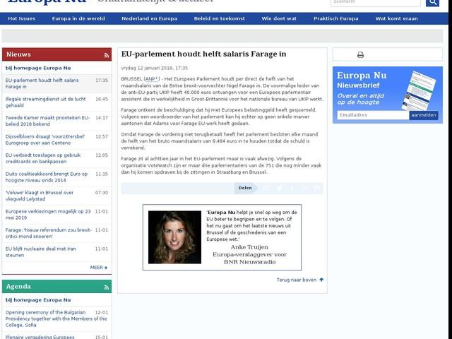 EU-parlement houdt helft salaris Farage in