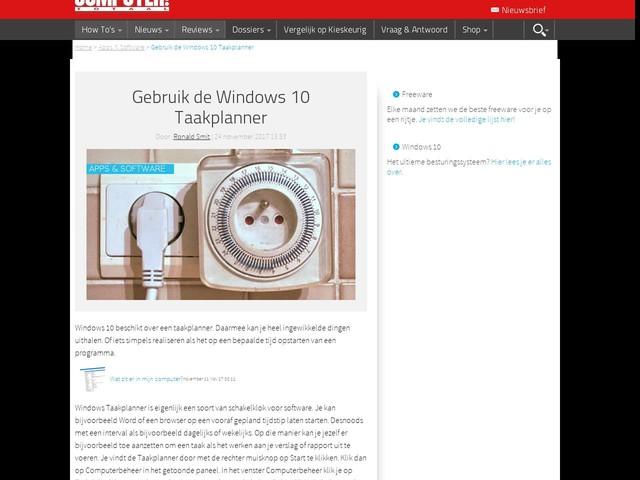 Gebruik de Windows 10 Taakplanner