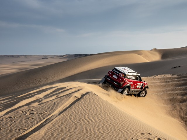Peterhansel Finishes Fourth Dakar Rally Stage Second in MINI JCW Buggy