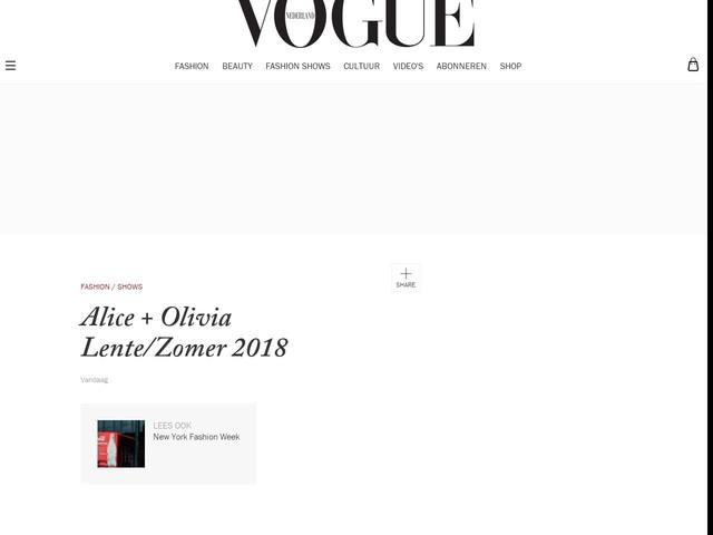Alice + Olivia Lente/Zomer 2018