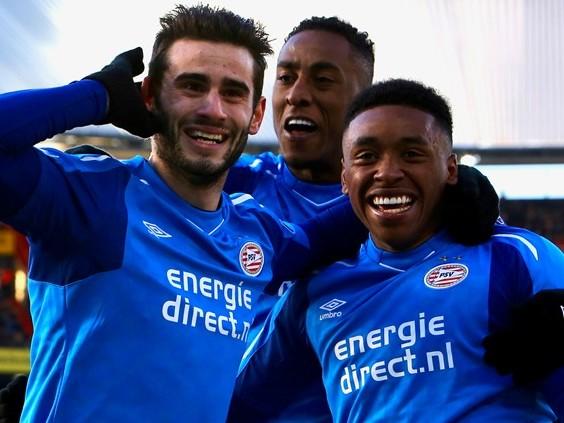 De zege van PSV op Feyenoord in 10 foto's