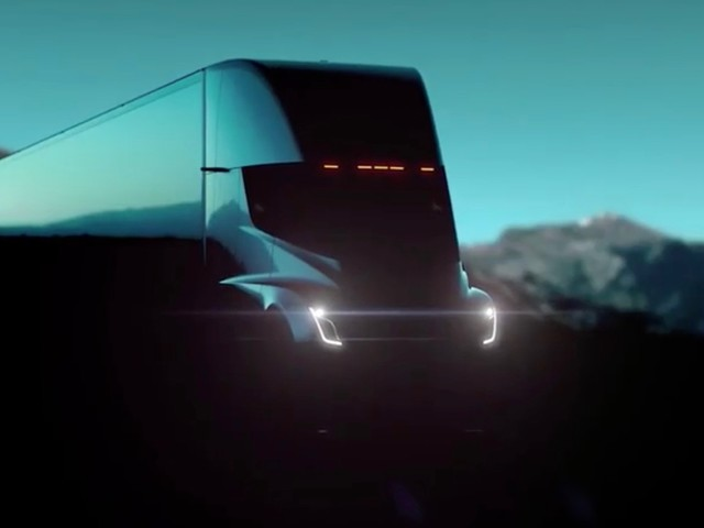 Tesla Semi teased in a new video ahead of tonight's debut
