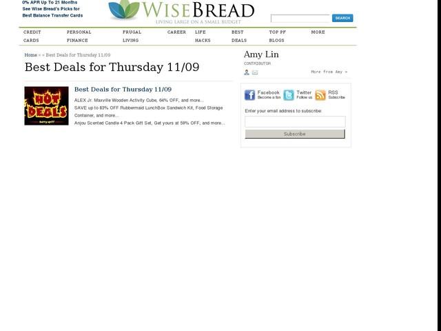 Best Deals for Thursday 11/09