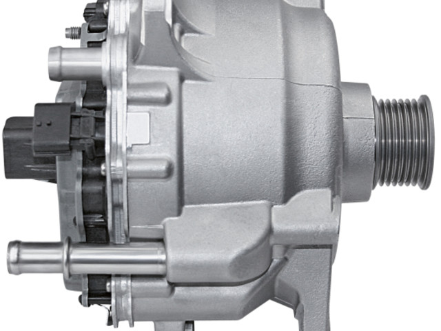 Continental supplying 48-volt belt starter generator with integrated power electronics for Audi A8