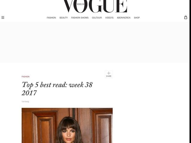 Top 5 best read: week 38 2017