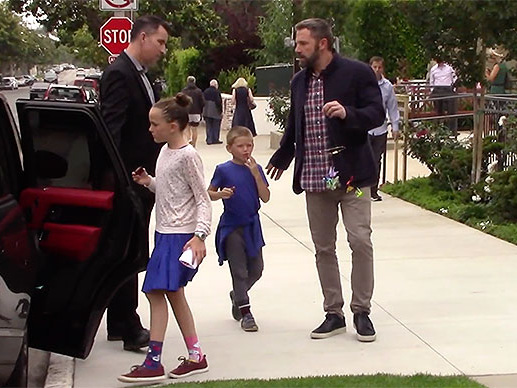 Ben Affleck Spends Father's Day At Church With His Kids