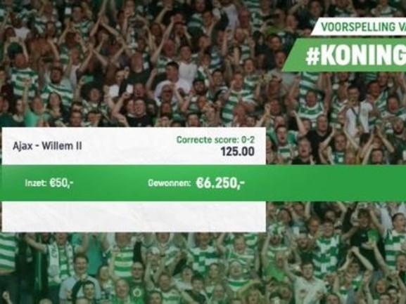 Eén Bredanaar is dolgelukkig na de winst van Willem II tegen Ajax, gokje in Toto levert 6000 euro op