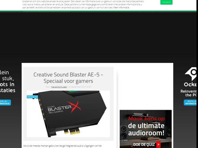 Creative Sound Blaster AE-5 - Speciaal voor gamers