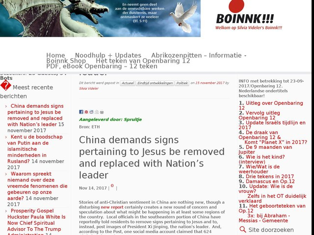China demands signs pertaining to Jesus be removed and replaced with Nation's leader