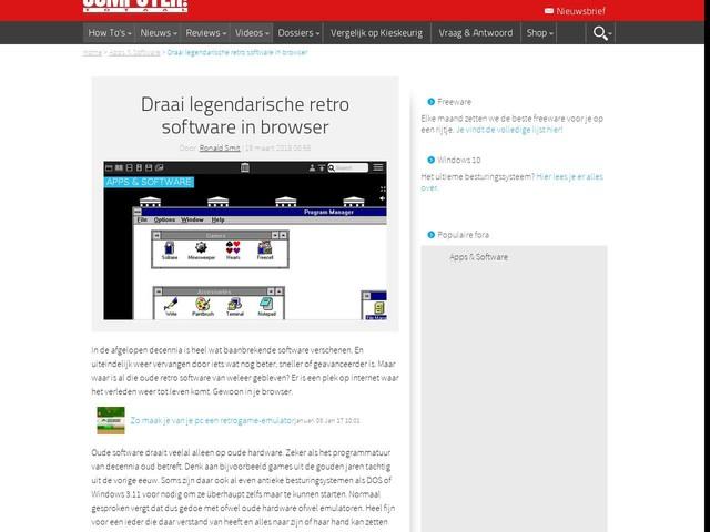 Draai legendarische retro software in browser