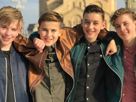 Gaan de jongens van Fource Europa veroveren tijdens het Junior Songfestival?