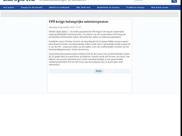 FPÖ krijgt belangrijke ministerposten