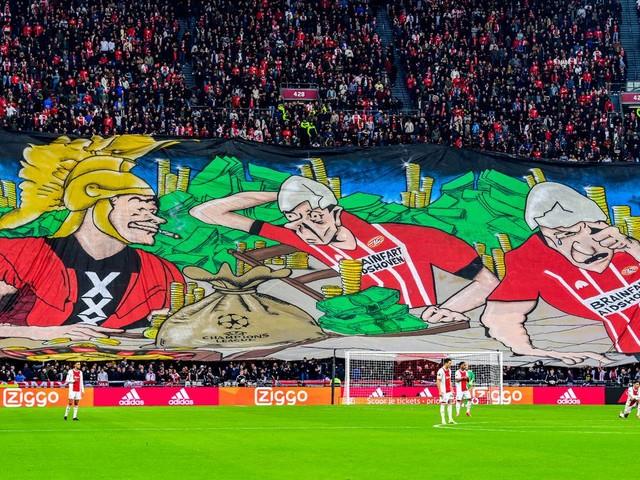 PSV krijgt excuses van Ajax voor onsmakelijk spandoek