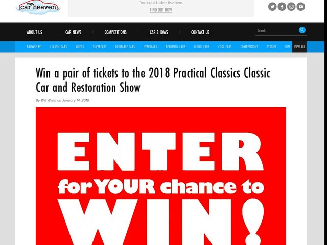 Win a pair of tickets to the 2018 Practical Classics Classic Car and Restoration Show