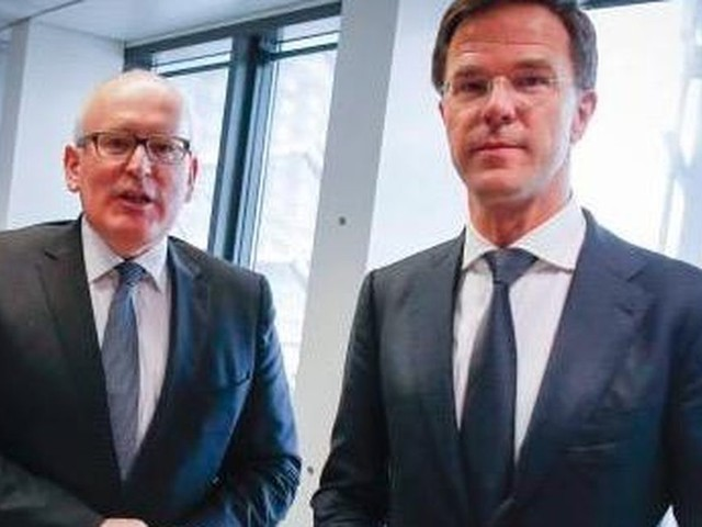 Rutte vol lof over eurocommissaris Timmermans