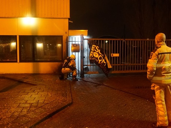 Brand in container bij Escaperoom Deventer