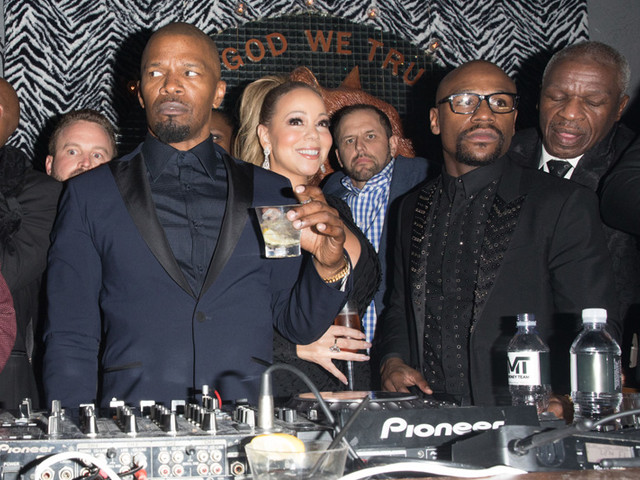 On The Party Scene: Mariah Carey, Jamie Foxx And More Attend Floyd Mayweather's 41st B'Day Party