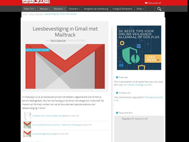 Leesbevestiging in Gmail met Mailtrack