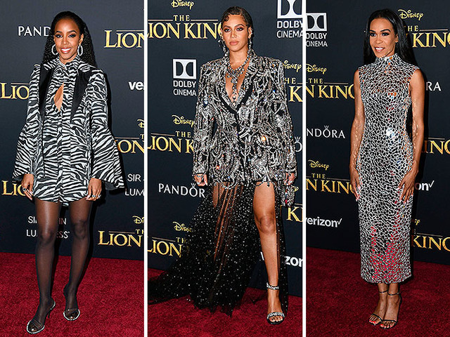 Beyonce Reunites With Destiny's Child Bandmates At Lion King Premiere