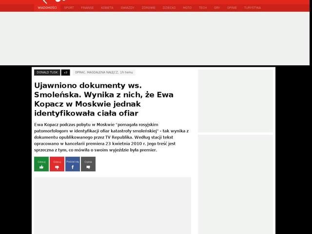 Ujawniono dokumenty ws. Smoleńska. Wynika z nich, że Ewa Kopacz w Moskwie jednak identyfikowała ciała ofiar