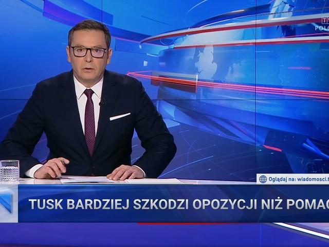 """""""Wiadomości"""" TVP po raz kolejny atakują Donalda Tuska. Zarzucają mu agresję i nienawiść"""