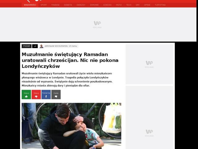Muzułmanie świętujący Ramadan uratowali chrześcijan. Nic nie pokona Londyńczyków
