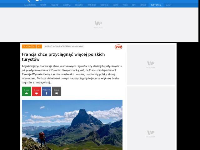 Francja chce przyciągnąć więcej polskich turystów