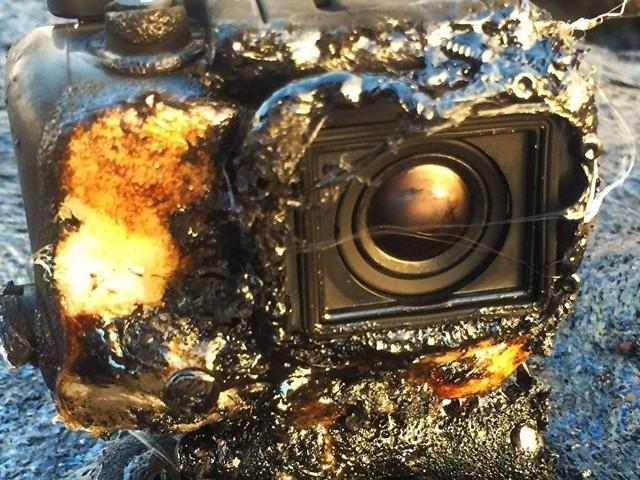Najodporniejsza kamera świata. Przetrwała kąpiel w płynnej lawie i nadal nagrywa!