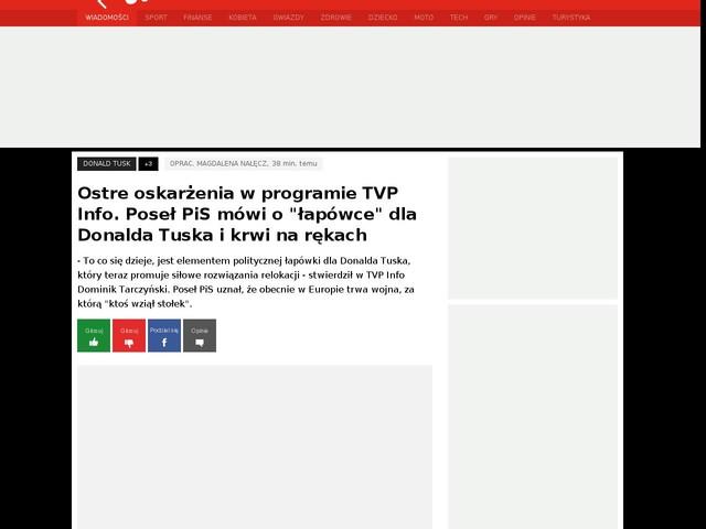 """Ostre oskarżenia w programie TVP Info. Poseł PiS mówi o """"łapówce"""" dla Donalda Tuska i krwi na rękach"""
