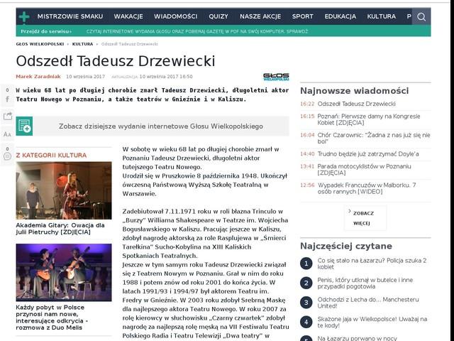 Odszedł Tadeusz Drzewiecki