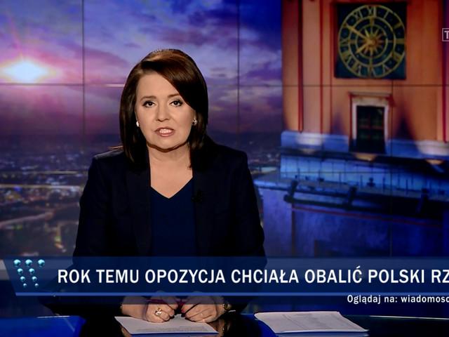 """""""Wiadomości"""" TVP o rocznicy """"puczu"""" opozycji. Zobacz, jak to zilustrowali"""