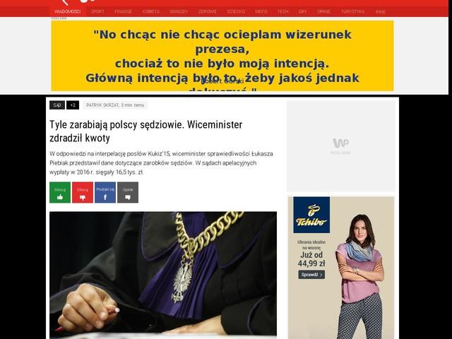 Tyle zarabiają polscy sędziowie. Wiceminister zdradził kwoty