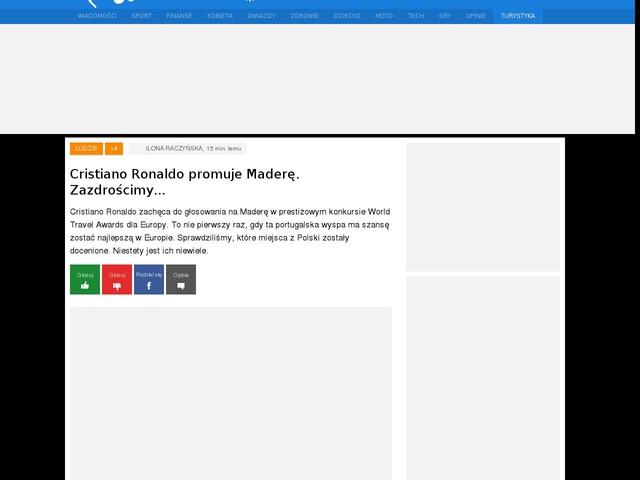 Cristiano Ronaldo promuje Maderę. Zazdrościmy...