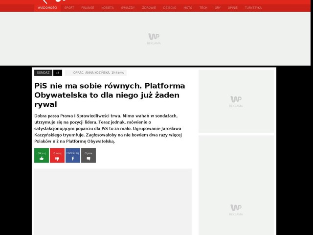 PiS nie ma sobie równych. Platforma Obywatelska to dla niego już żaden rywal