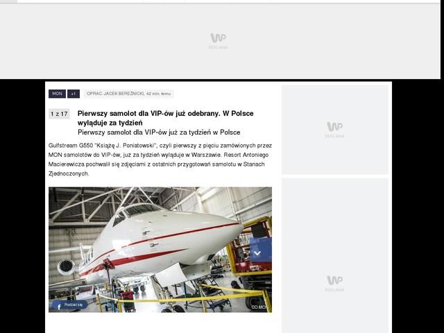 Pierwszy samolot dla VIP-ów już odebrany. W Polsce wyląduje za tydzień