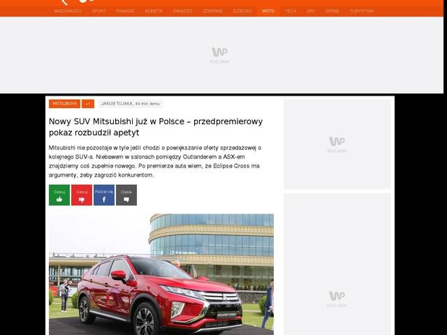 Nowy SUV Mitsubishi już w Polsce – przedpremierowy pokaz rozbudził apetyt