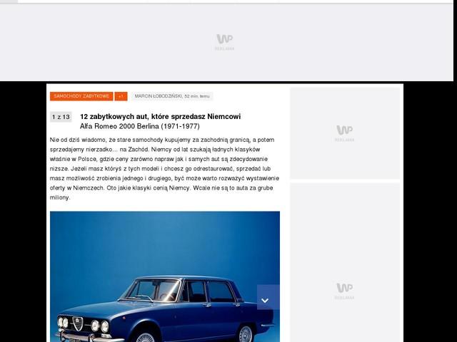 12 zabytkowych aut, które sprzedasz Niemcowi