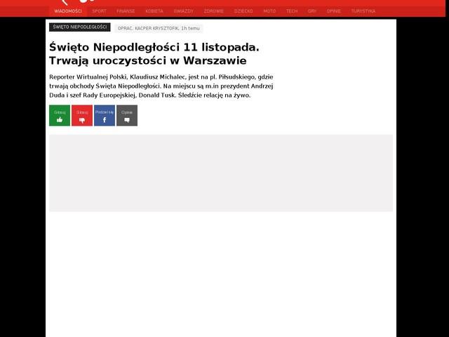Święto Niepodległości 11 listopada. Trwają uroczystości w Warszawie