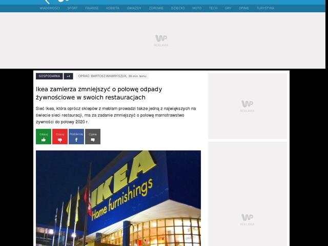 Ikea zamierza zmniejszyć o połowę odpady żywnościowe w swoich restauracjach