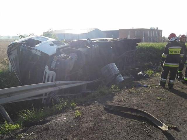 Groźny wypadek w Wielkopolsce. Zderzenie dwóch ciężarówek