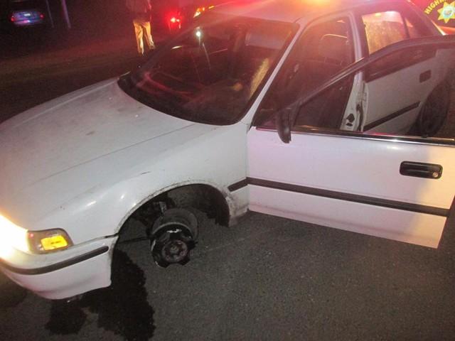 Zgubił się kradzionym samochodem. Nie mógł gorzej trafić