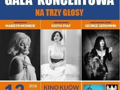 Wielka Noworoczna Gala Koncertowa 2018- Piaf, Gershwin, Monroe.