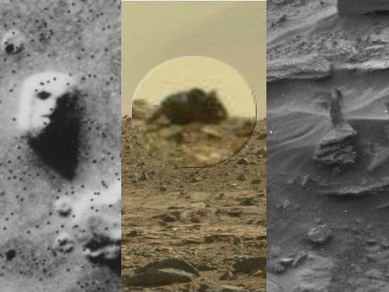 Загадочные фигуры, которые замечали на Марсе: от лиц до животных