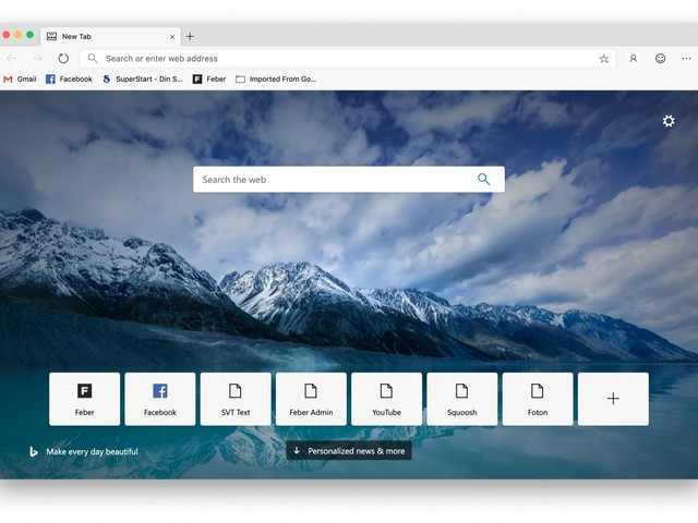 Chromium-versionen av Microsoft Edge släppt i betaversion