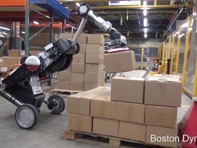 Se Boston Dynamics robot Handle som lagerarbetare