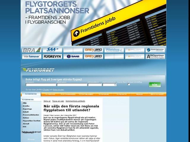 När säljs den första regionala flygplatsen till utlandet?